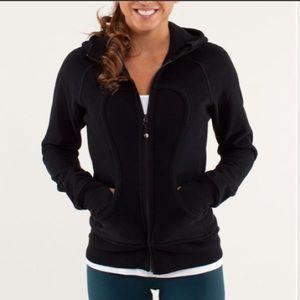 LULULEMON black scuba jacket hoodie S